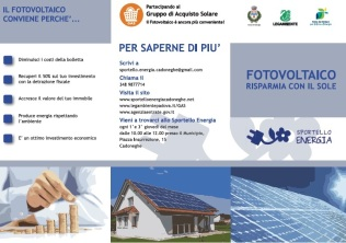 copertina depliant fotovoltaico